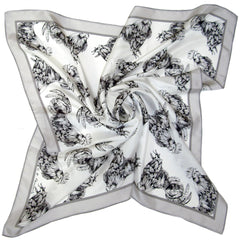 Struts like a Rooster | Square Silk Scarf