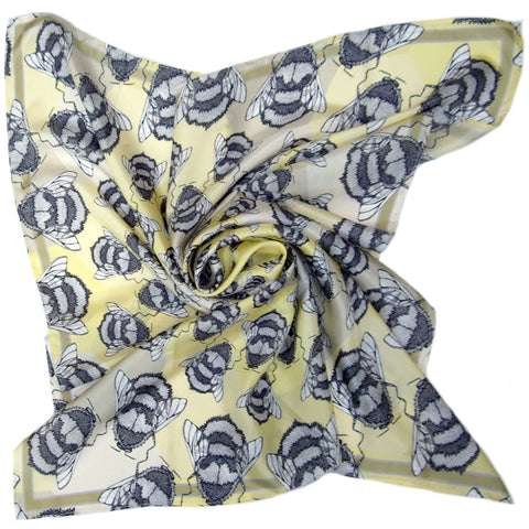 Runny Honey | Square Silk Scarf