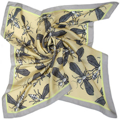 Wild Wasp | Square Silk Scarf