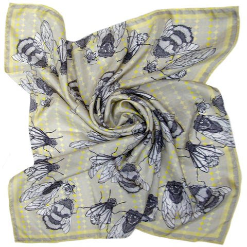 Winter Wings | Square Silk Scarf