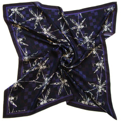 Hush of Night | Square Silk Scarf