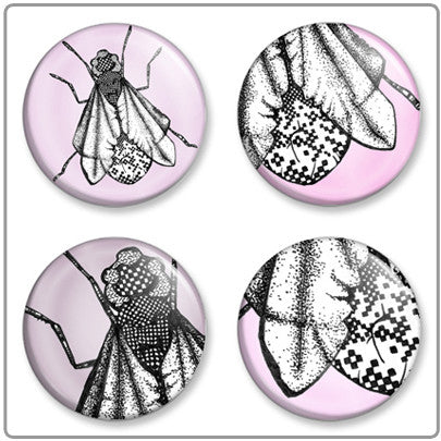 Shoo Fly Shoo | Button Badge Set