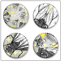 Winter Wings | Button Badge Set