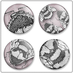Conspiracy of Bees | Button Badge Set