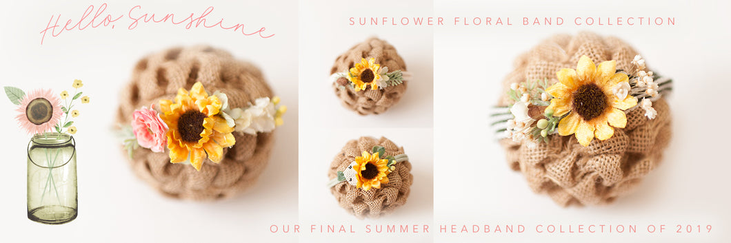 Hello, Sunshine - Sunflower Headband Collection