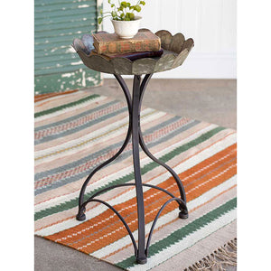 Rustic Galvanized Metal Flower Table