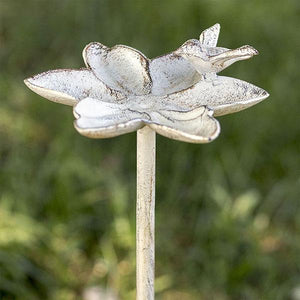 White Lily Garden Stake - Set of 2