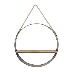 Circle Metal One Shelf Rope Hanging