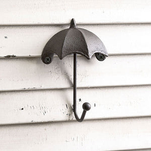 Metal Umbrella Wall Hooks - Set of 4