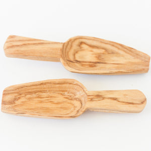 Hand-Carved Olive Wood Mini Scoop