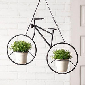 Industrial Hanging Bicycle Planter