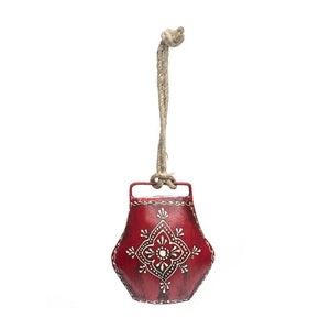 Upcycled Henna Treasure Bell - Large Red - Matr Boomie (Bell)