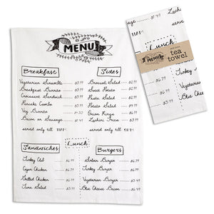 Menu Tea Towel - Set of 4