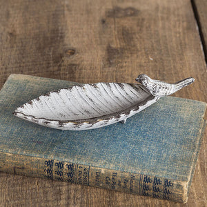 Bird Perched on Small Leaf Dish - Set of 2