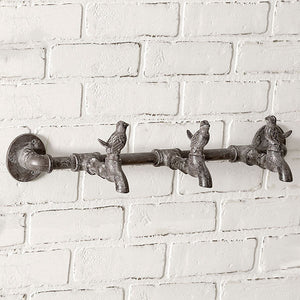 Three Birds On Faucet Towel Bar