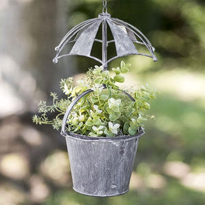 Cut Out Umbrella Over Hanging Planter