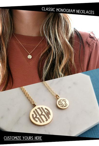 New - Classic Engraved Monogram Charms