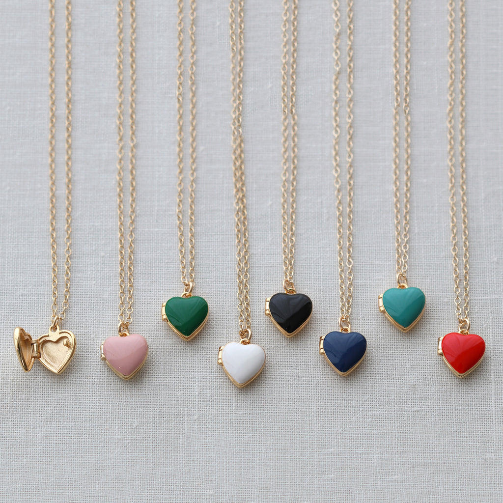 Heart Enamel Lockets
