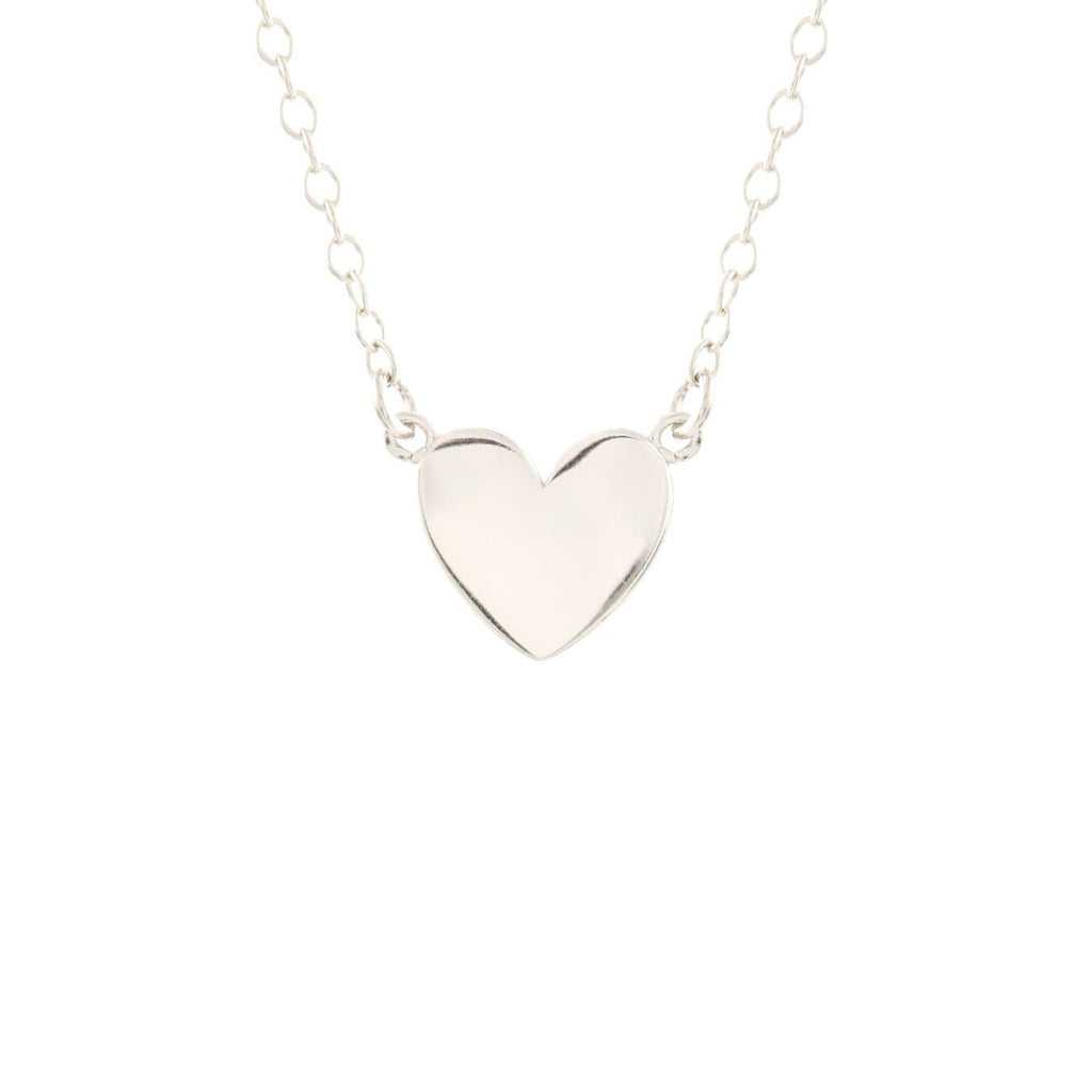 Solid Heart Charm Necklace