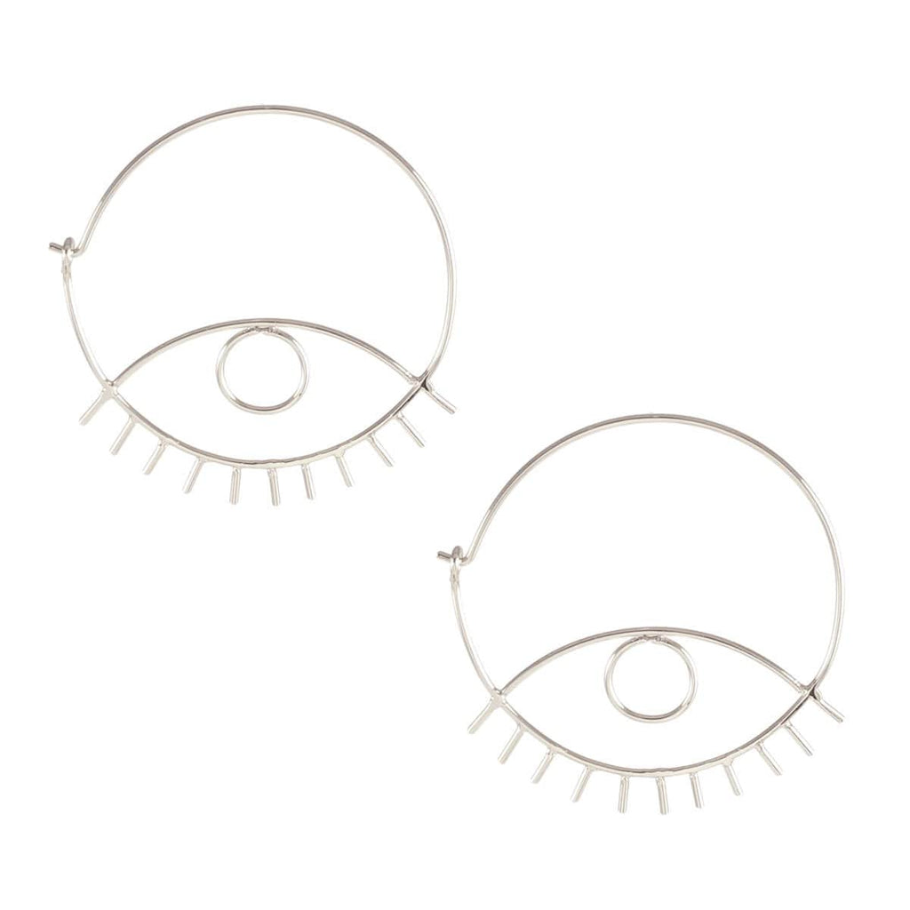 Third Eye Hoop Earrings