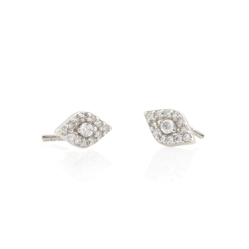 Third Eye Pave Stud Earrings
