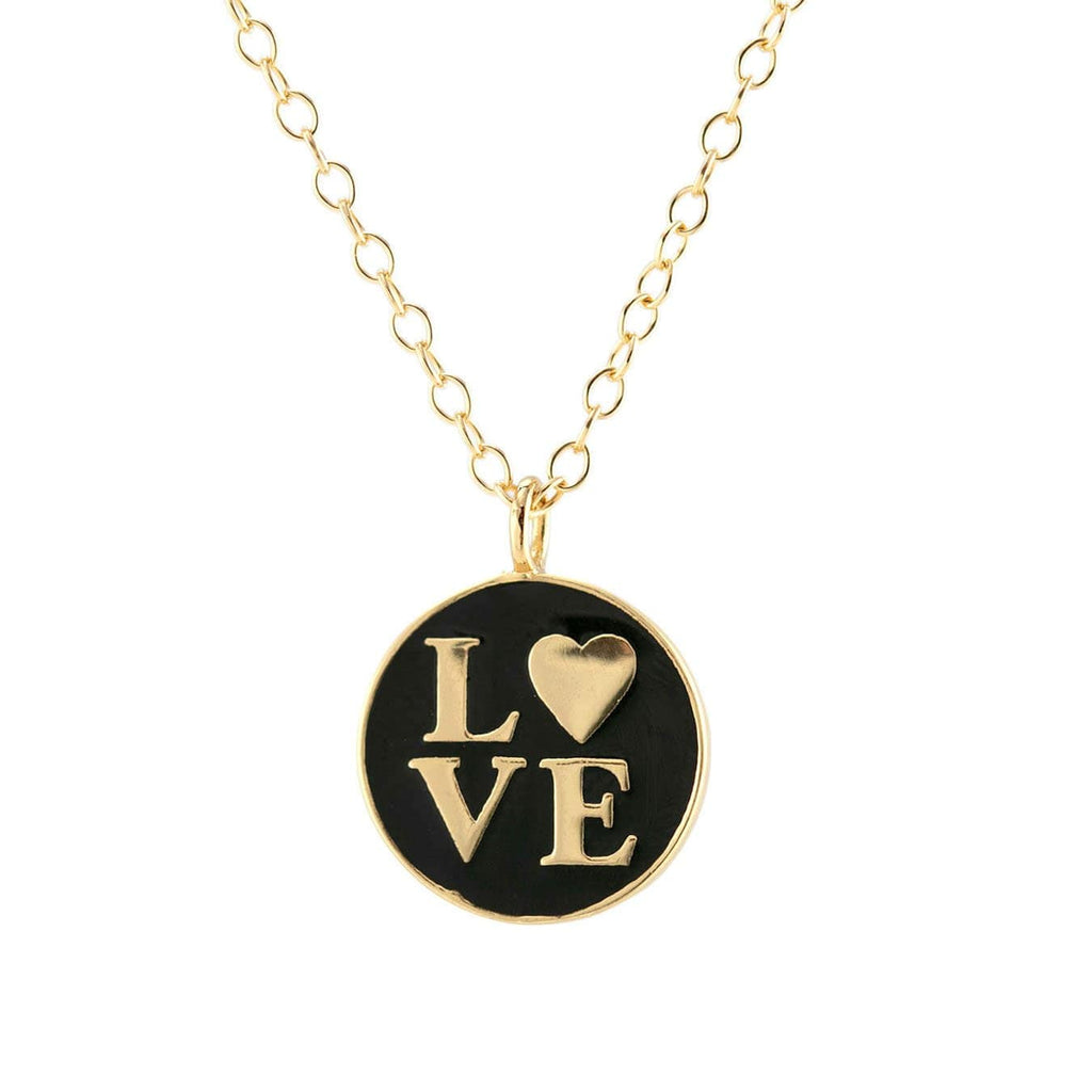 Love Enamel Charm Necklace