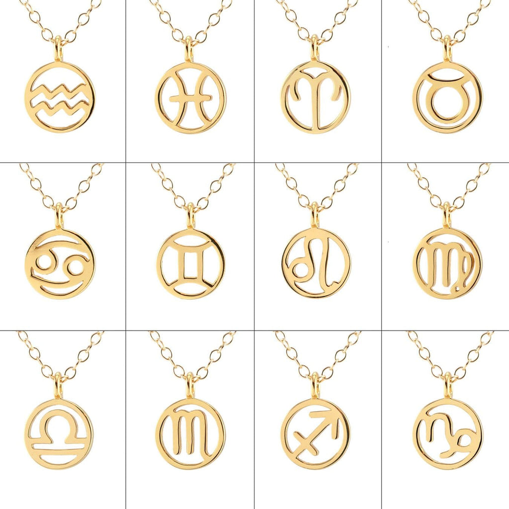 Zodiac Outline Charm Necklace