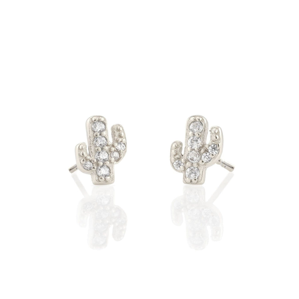 Cactus Pave Stud Earrings