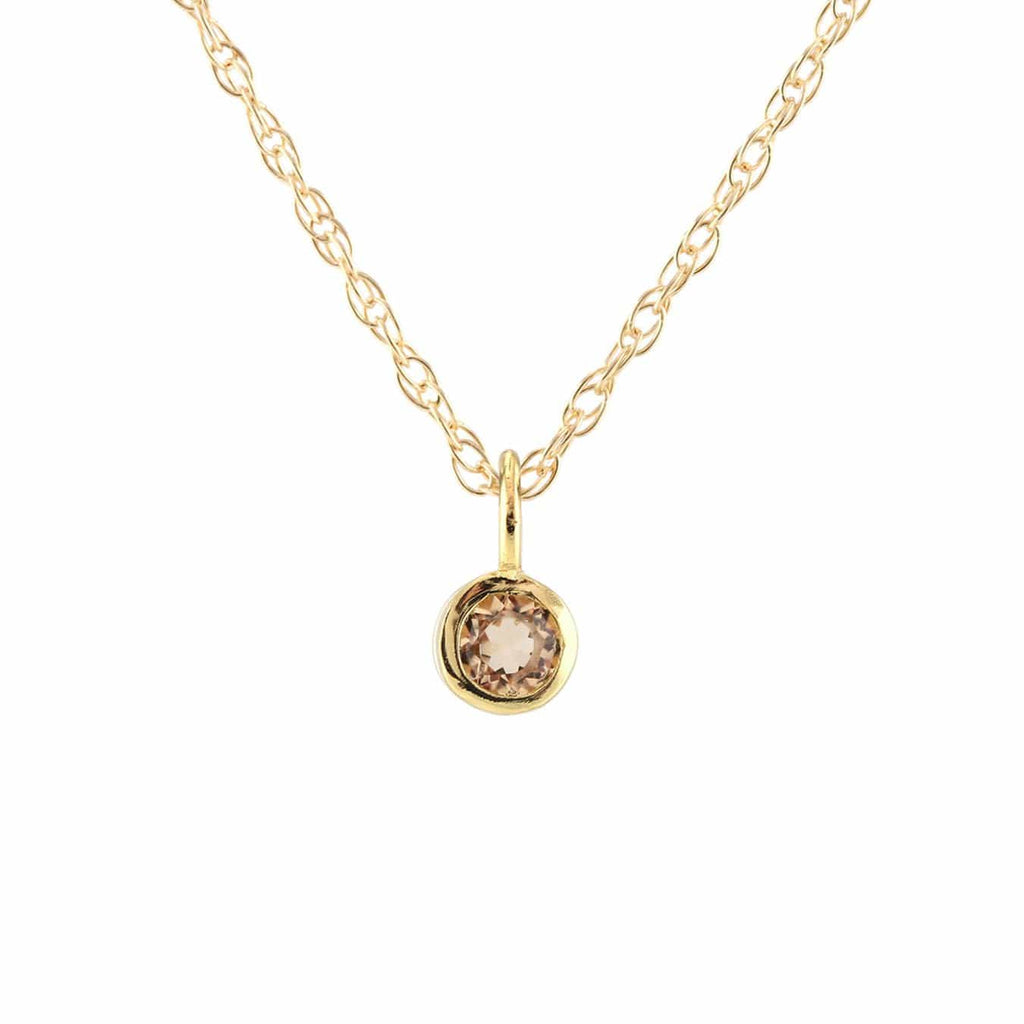Gemstone Charm Necklace - Citrine