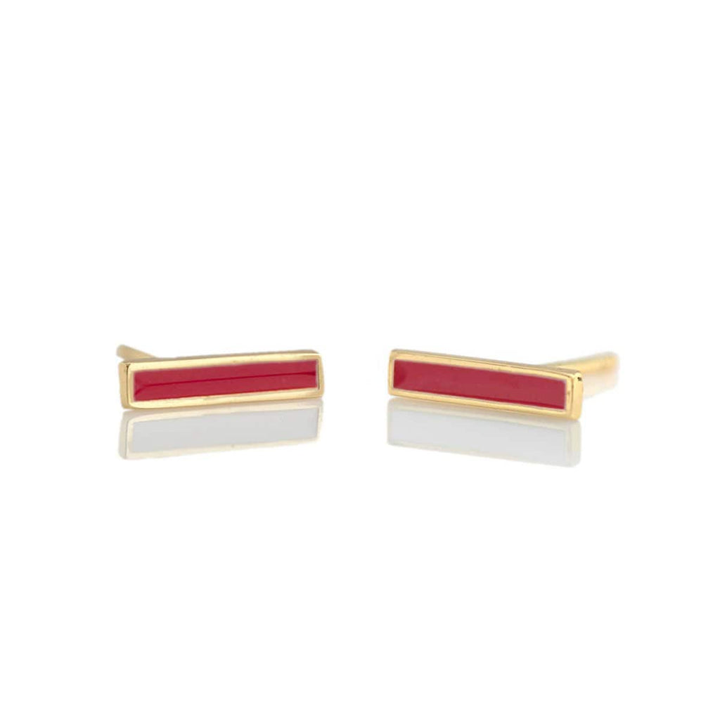 Bar Enamel Earrings