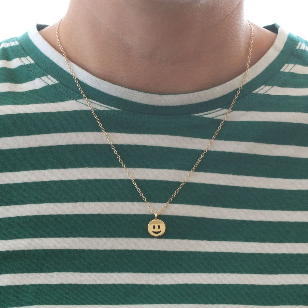Smiley Face Charm Necklace