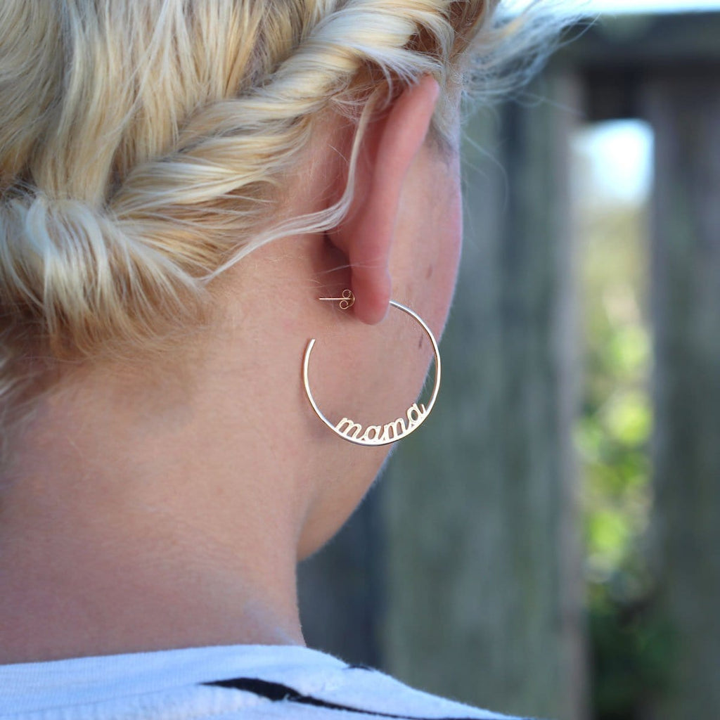 Mama Hoop Earrings