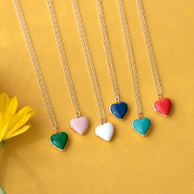 Enamel Heart Locket