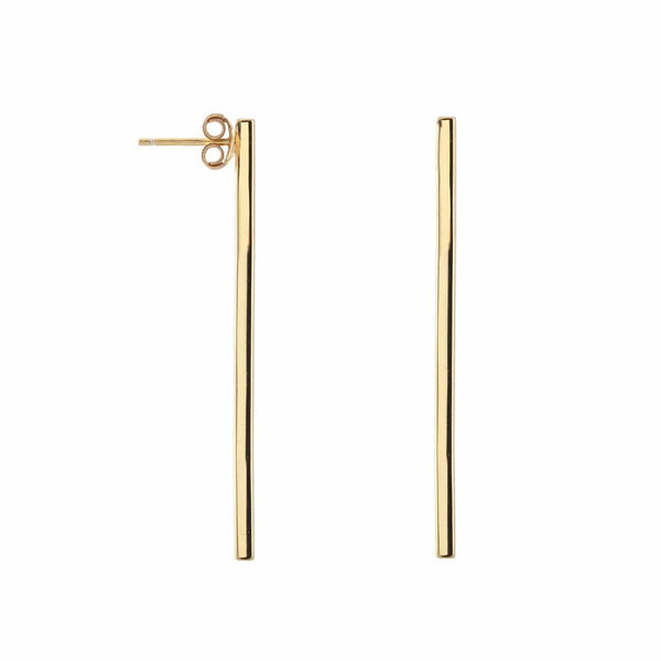 Extra Long Bar Stud Earrings