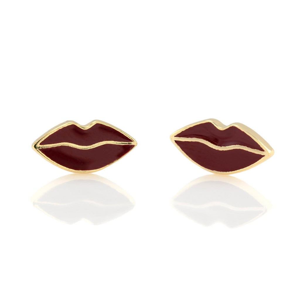 Lips Enamel Stud Earrings