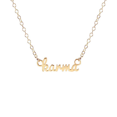 Karma Charm Necklace 18K Gold Vermeil