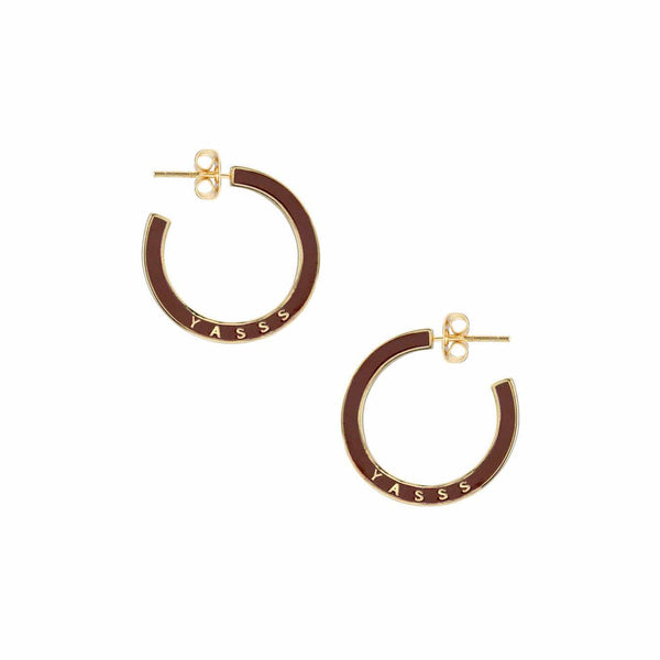 YASSS Enamel Hoop Earrings
