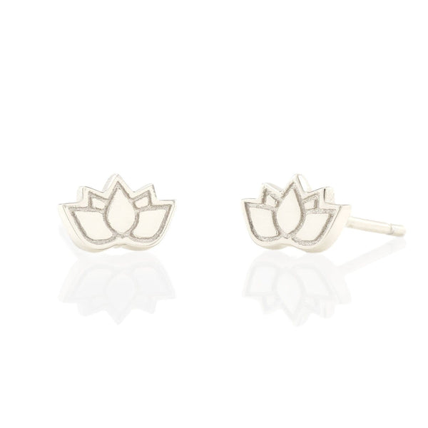 Lotus Flower Stud Earrings