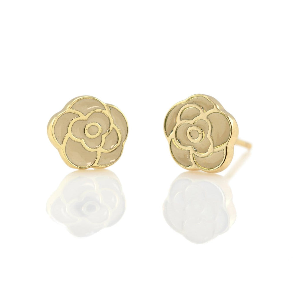 Flower Enamel Stud Earrings