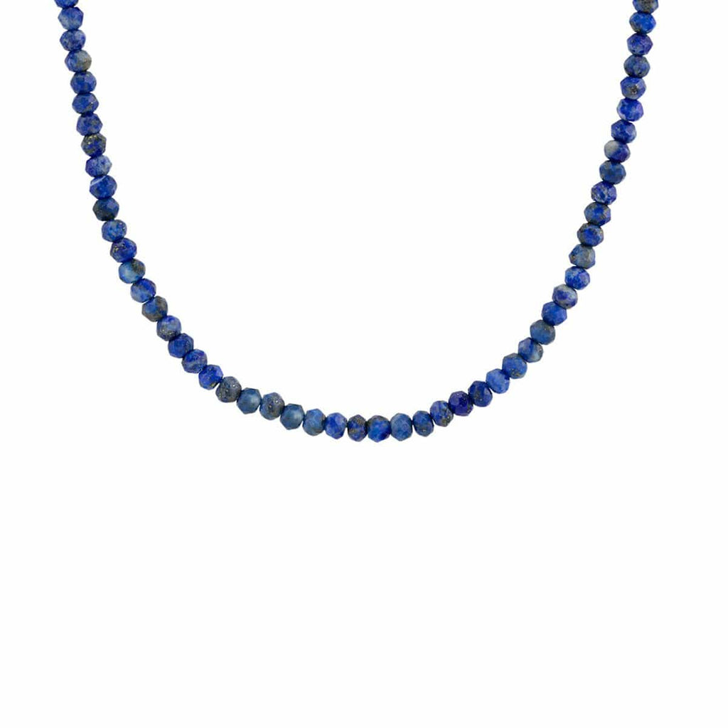 Lapis Faceted Gemstone Beaded Necklace