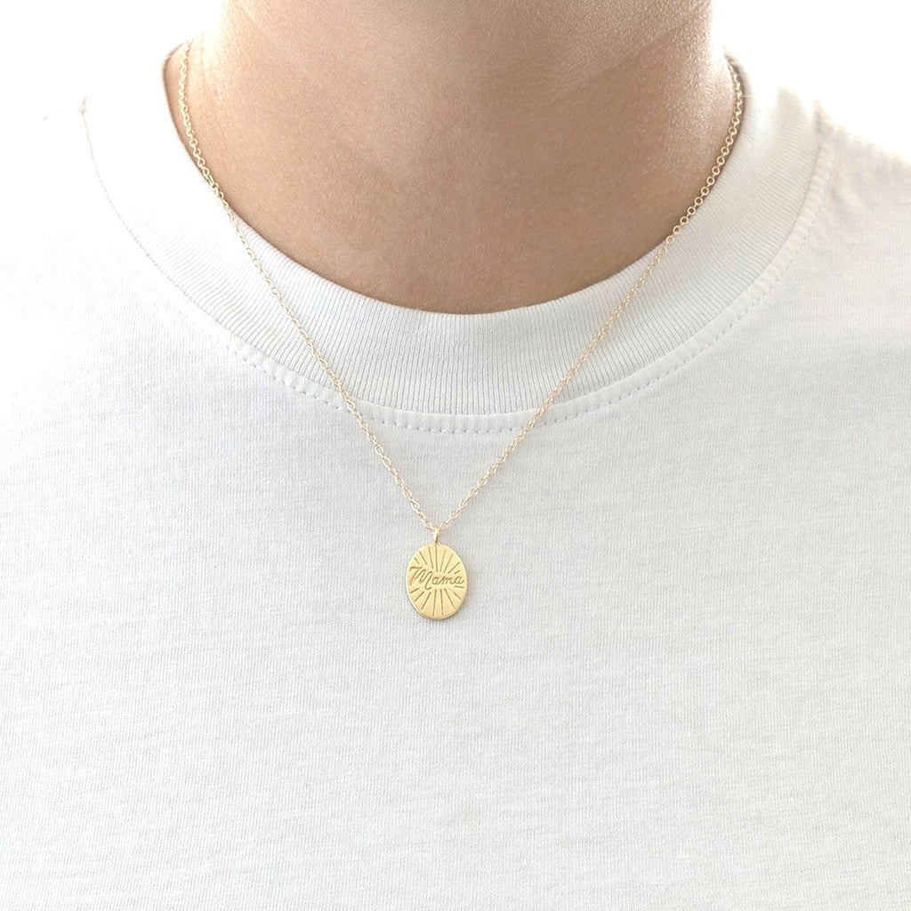 Mama Disc Charm Necklace