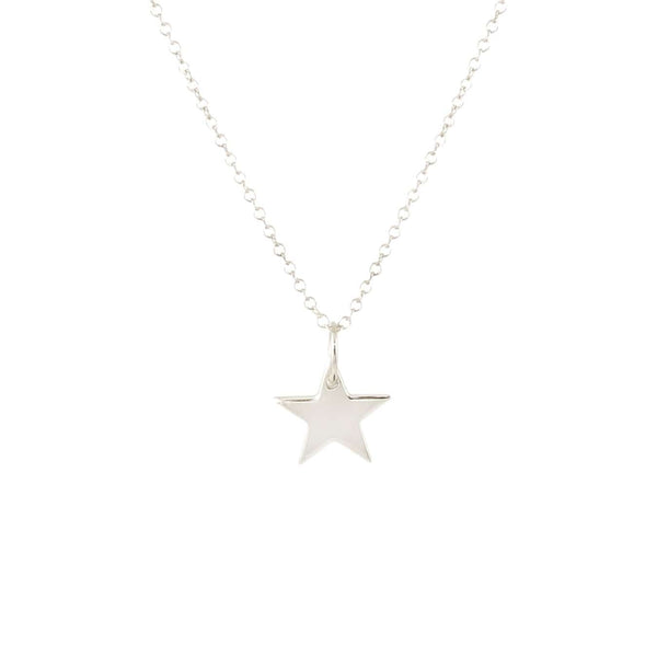 Solid Star Charm Necklace