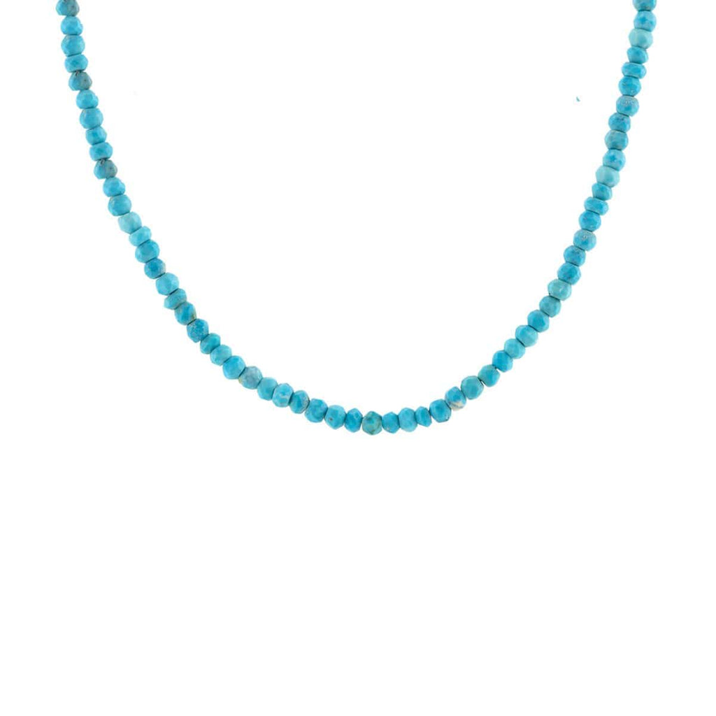 Turquoise Faceted Gemstone Beaded Necklace
