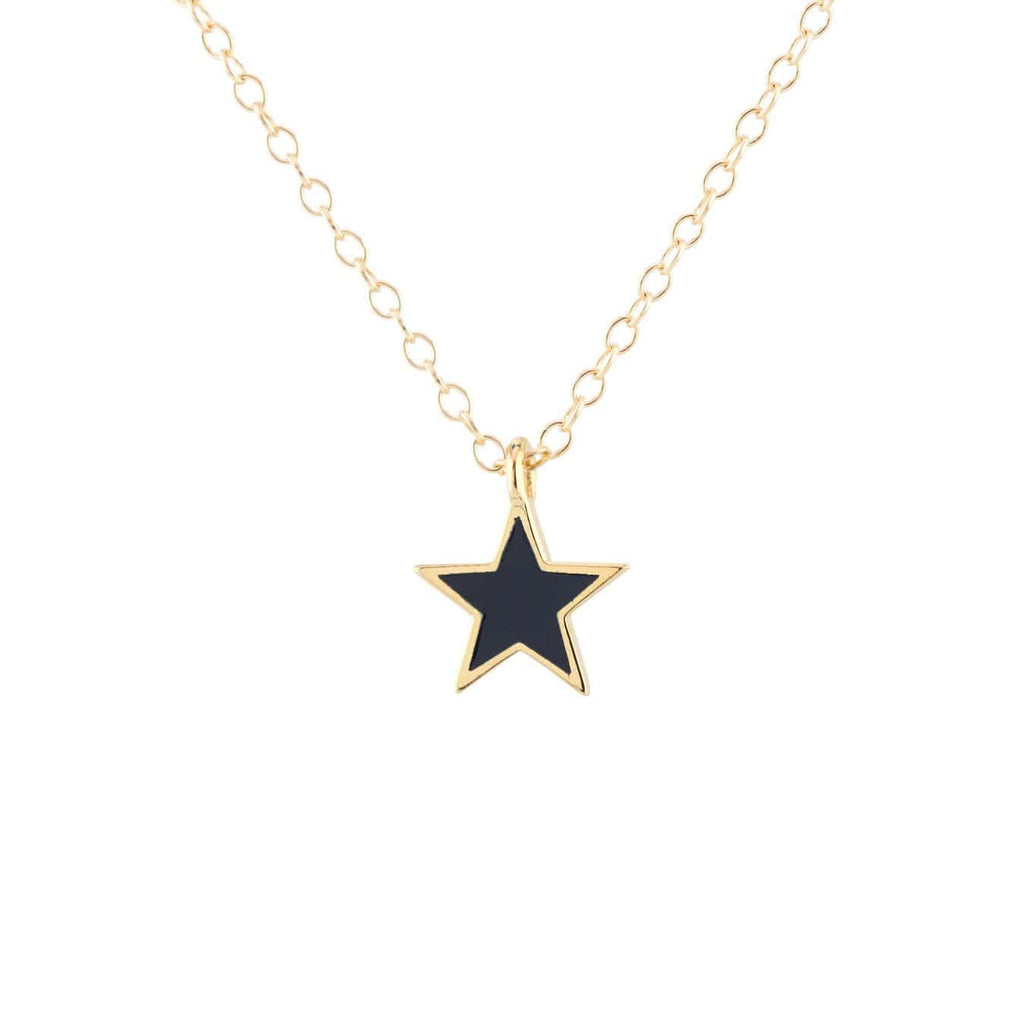 Star Enamel Charm Necklace