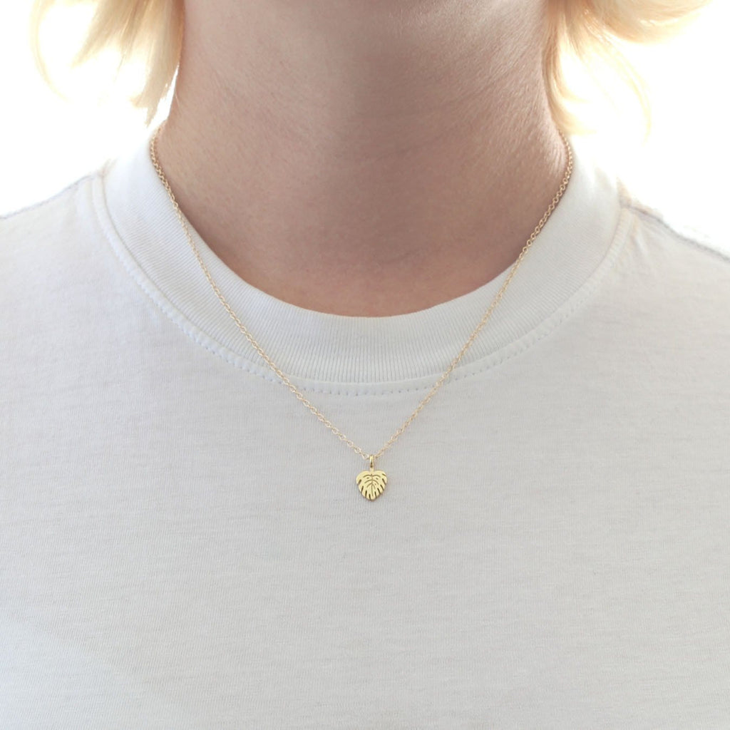 Monstera Leaf Charm Necklace