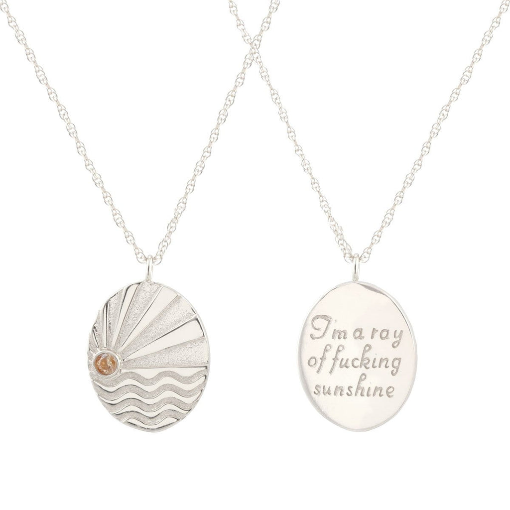Ray of Sunshine Charm Necklace