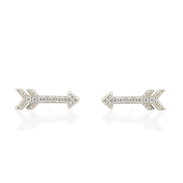 Arrow Pave Stud Earrings