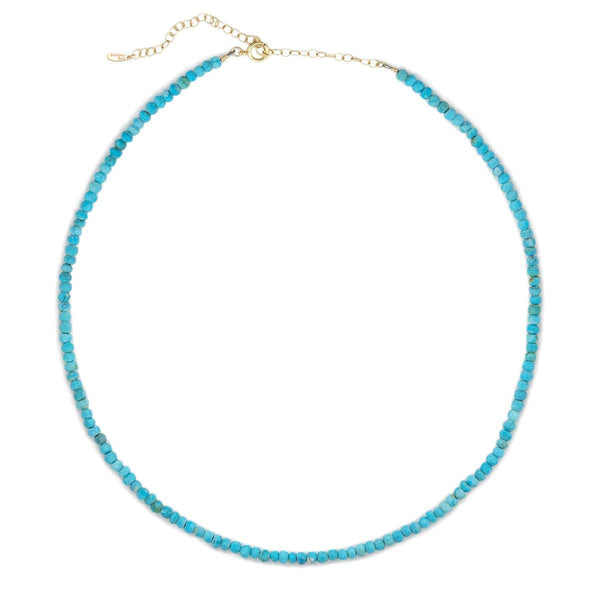 Small Turquoise Gemstone Beaded Necklace