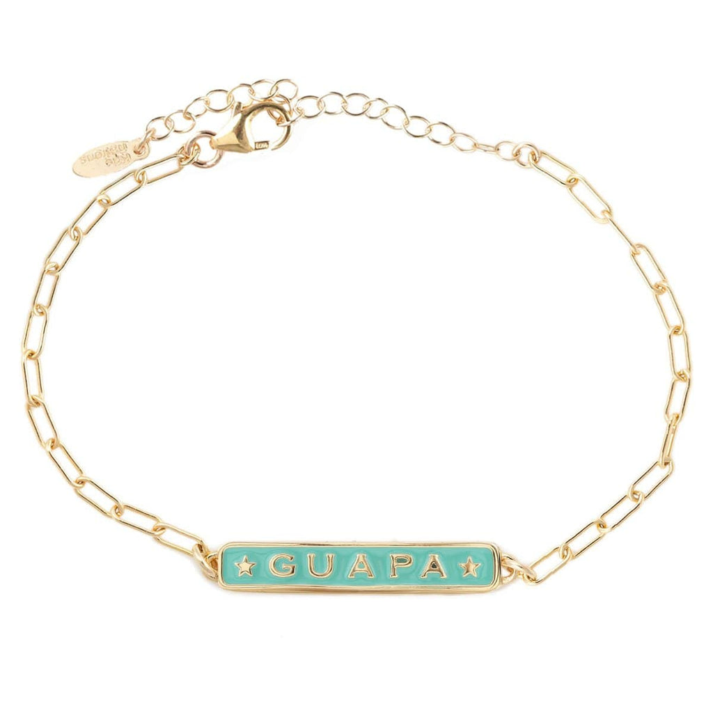 Guapa Enamel Bracelet with Drawn Cable Chain