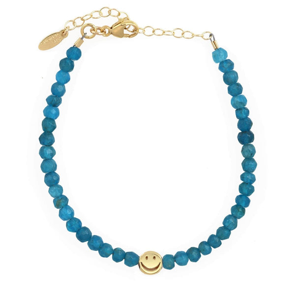 Blue Apatite Happy Bracelet